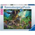 Puzzle Ravensburger : Famille de Loups dans la Forêt - 1000 Pièces