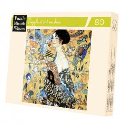 Puzzle Michèle Wilson : Klimt : La Dame à l'éventail - 80 Pièces