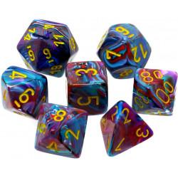 Set de 7 Dés Festive Polyhedral Mosaic/Yellow