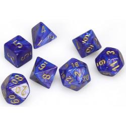 Set de 7 Dés Lustrous Polyhedral Purple/Gold