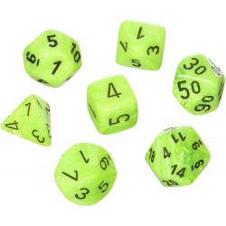 Set de 7 Dés Vortex Polyhedral Bright Green