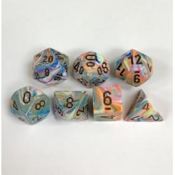 Set de 7 Dés Festive Polyhedral Vibrant