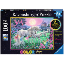 Puzzle Ravensburger Pièces XXL - Licornes au clair de Lune - 100 Pièces