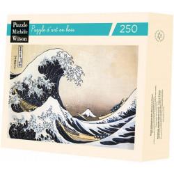 Puzzle Michèle Wilson : Katsushika Hokusai - La Vague - 250 Pièces
