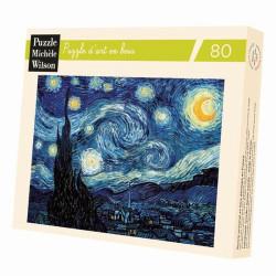 Puzzle Michèle Wilson : Van Gogh - Nuit étoilée - 80 Pièces