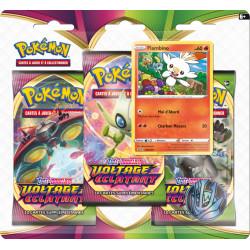 Booster Tri-Pack Pokémon Epée et Bouclier - Voltage Eclatant - Flambino