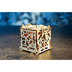 """Puzzle Ugears - Dice Keeper """"Gardien de Dés"""" – Puzzle 3D Mécanique en bois"""