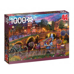 Puzzle Jumbo : Canaux d'Amsterdam - 1000 Pièces