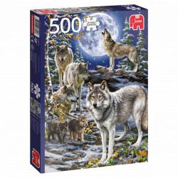 Puzzle Jumbo : Meute de Loups en Hiver - 500 Pièces