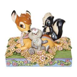 Figurine Disney Tradition Bambi, Panpan et Fleur amis d'enfance - Childhood Friends