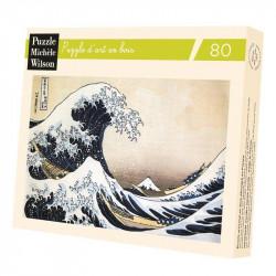 Puzzle Michèle Wilson : Hokusai : La Vague - 80 Pièces