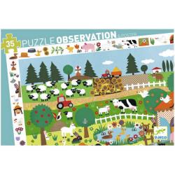 Puzzle Djeco Observation - Ferme - 35 pièces