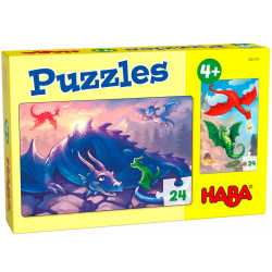 Puzzle HABA : Dragons - 24 Pièces Chacun