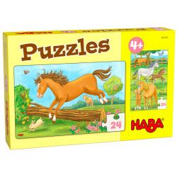 Puzzle HABA : Chevaux - 24 Pièces Chacun