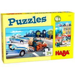 Puzzle HABA : Pin-pon, pin-pon - 24 Pièces Chacun