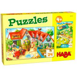 Puzzle HABA : Ferme - 24 Pièces Chacun