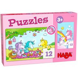 Puzzle HABA : Licornes : Rosalie et ses Amis - 12 Pièces Chacun