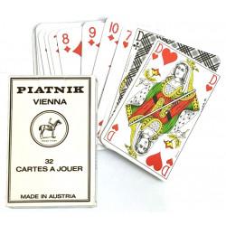 Jeu de cartes Piatnik de 32 cartes Anciens HC