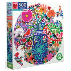 Puzzle Eeboo : Oiseaux & Fleurs - 500 Pièces