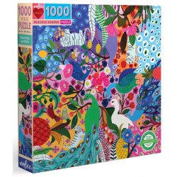 Puzzle Eeboo : Jardin des Paons - 1000 Pièces