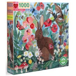 Puzzle Eeboo : Le lapin Coquelicot - 1000 Pièces
