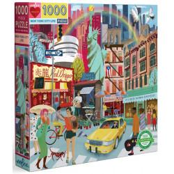 Puzzle Eeboo : La vie New Yorkaise - 1000 Pièces