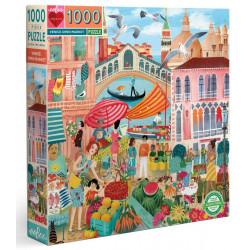 Puzzle Eeboo : Le marché de Venice - 1000 Pièces