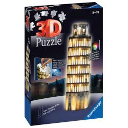 Puzzle Ravensburger 3D - Occasion - Tour de Pise illuminée - 216 Pièces