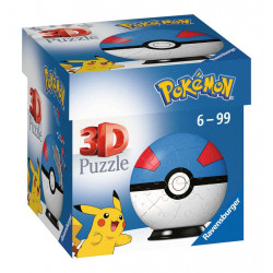Puzzle Ravensburger 3D Ball - Pokemon Super Ball - 54 Pièces