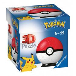 Puzzle Ravensburger 3D Ball - Pokemon Poké Ball - 54 Pièces