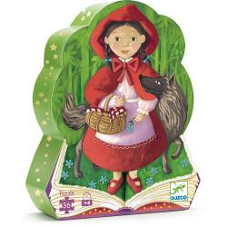 Puzzle Djeco silhouette - Le Petit Chaperon Rouge - 36 pièces