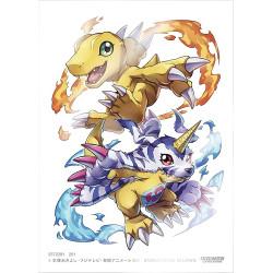 Protège-cartes illustré Bandai Digimon - Agumon / Gabumon