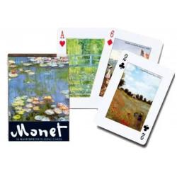 Jeu 54 cartes illustrés Piatnik - Monet