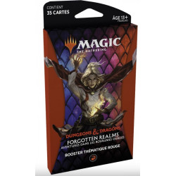 Magic thème booster Dungeons & Dragons Forgotten Realms – Rouge