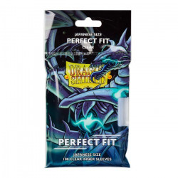 Protège-cartes Dragon Shield - 100 Japanese Perfect Fit Clear Transparent