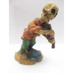 Figurine tête de mort avec violon