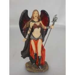 Figurine ELFE GUERRIERE Rouge avec sceptre