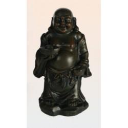 Figurine bouddha rieur debout avec coupelle et boule de la santé
