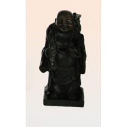 Figurine bouddha rieur debout avec sac d'abondance sur l'épaule