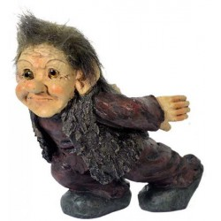 Figurine troll porte bouteille garçon