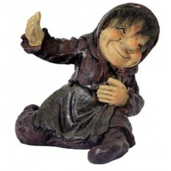 Figurine troll porte bouteille fille