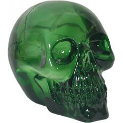 Figurine crâne cristal vert petit modèle