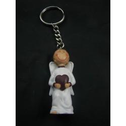 Porte-clefs ange blanc