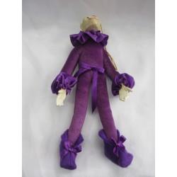 Peluche singe articulée violet