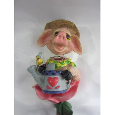 Cochon avec tête qui bouge à piquer