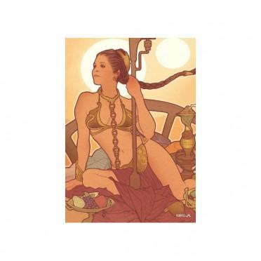 Protège-cartes illustré art sleeves vertical princess Leia standard