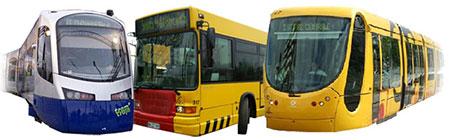 Bus tram tram-train