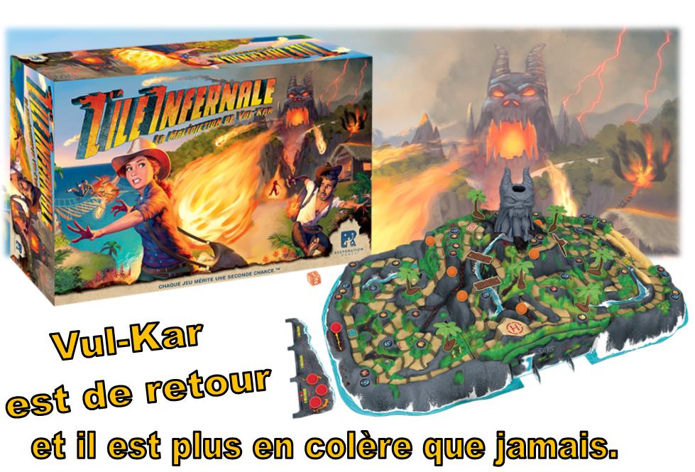 Jeux de société - L'île Infernale : La Malédiction de Vul-Kar