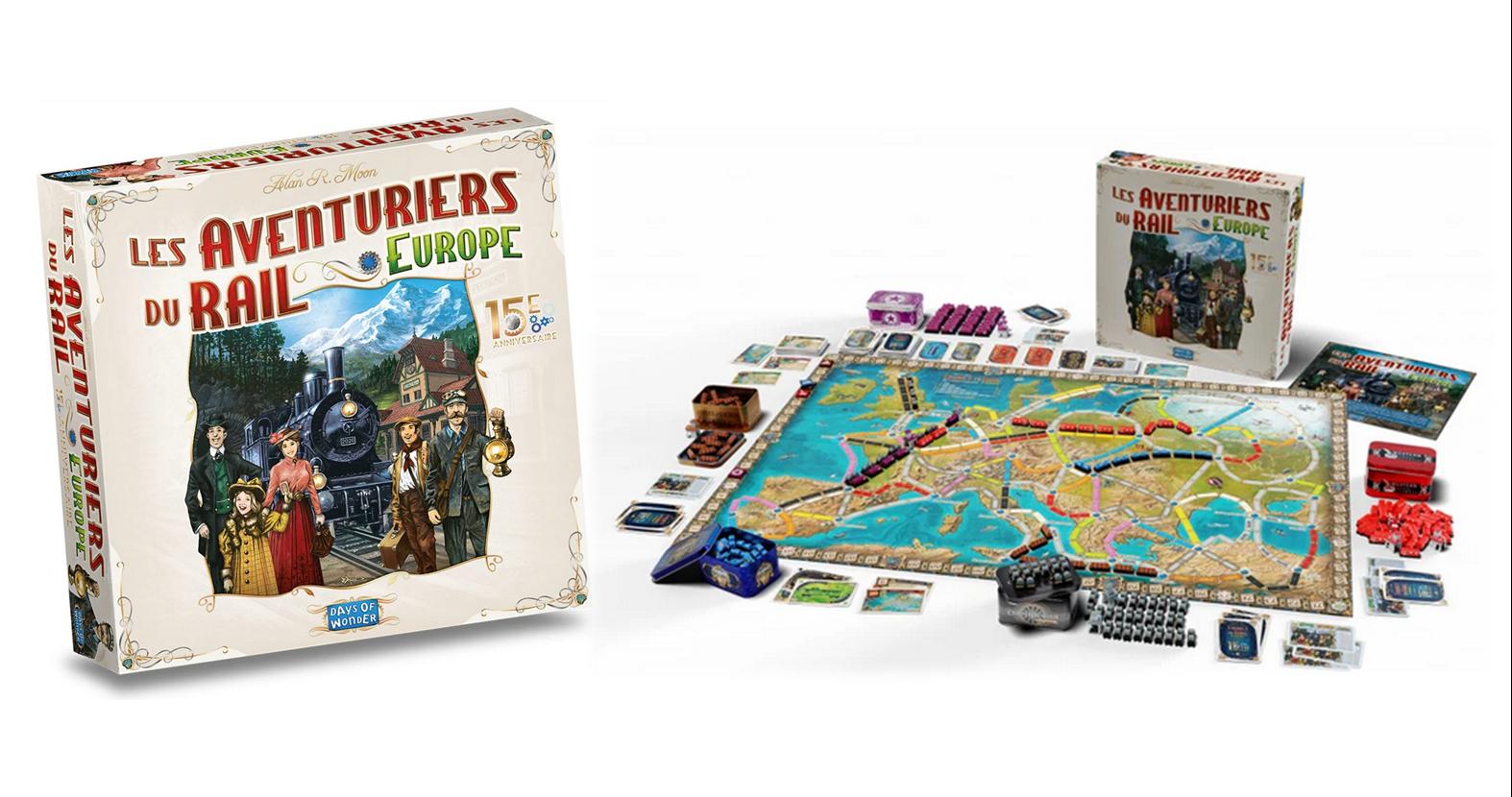 Jeux de société - Les Aventuriers du Rail Europe 15ème Anniversaire