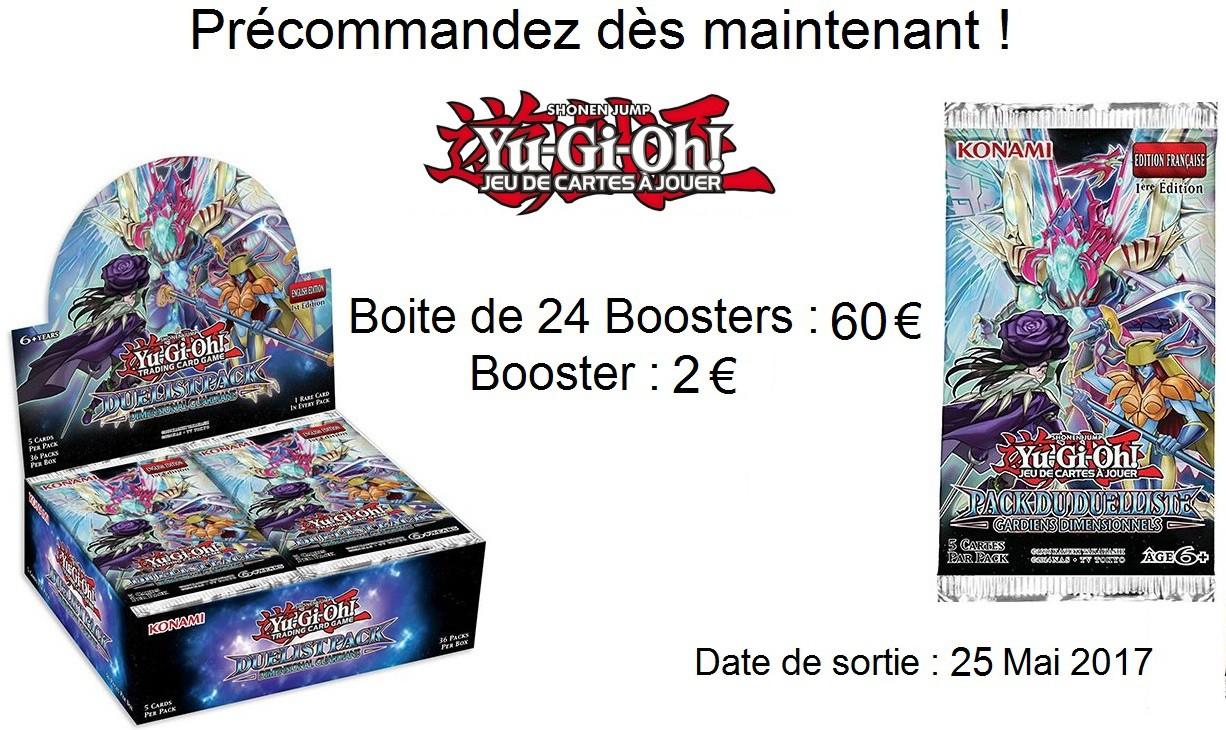 Précommande Booster Gardiens Dimensionnels YuGiOh